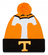 Tennessee Volunteers New Era NCAA Logo Whiz Cuffed Knit Hat with Pom