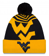 West Virginia Mountaineers New Era NCAA Logo Whiz Cuffed Knit Hat with Pom