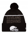 Cleveland Browns New Era 2015 NFL Sideline Sport Knit Hat - Black/White