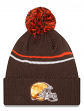 "Cleveland Browns New Era NFL ""Logo Crisp"" Cuffed Knit Hat with Pom"