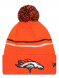 "Denver Broncos New Era NFL ""Logo Crisp"" Cuffed Knit Hat with Pom"