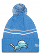 "Detroit Lions New Era NFL ""Logo Crisp"" Cuffed Knit Hat with Pom"