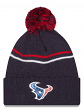 "Houston Texans New Era NFL ""Logo Crisp"" Cuffed Knit Hat with Pom"