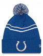 """Indianapolis Colts New Era NFL """"Logo Crisp"""" Cuffed Knit Hat with Pom"""