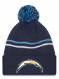 "San Diego Chargers New Era NFL ""Logo Crisp"" Cuffed Knit Hat with Pom"