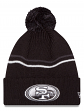 "San Francisco 49ers New Era NFL ""Logo Crisp"" Cuffed Knit Hat with Pom - Black"