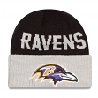 Baltimore Ravens New Era NFL Classic Cover Cuffed Knit Hat
