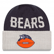 Chicago Bears New Era NFL Throwback Classic Cover Cuffed Knit Hat - 1946