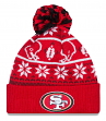 "San Francisco 49ers New Era NFL ""Sweater Chill"" Cuffed Knit Hat w/ Pom"