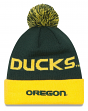 "Oregon Ducks New Era NCAA ""Winter Fresh"" Cuffed Knit Hat with Pom"