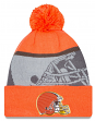 Cleveland Browns New Era 2015 NFL Gold Collection Sideline Knit Hat