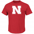 "Nebraska Cornhuskers NCAA Majestic ""Football Icon"" Men's Red T-Shirt"