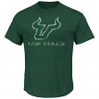 "South Florida Bulls NCAA Majestic ""Always Admired"" Weathered Green T-Shirt"