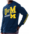 "Michigan Wolverines NCAA Majestic ""Points Earned"" Men's Long Sleeve T-Shirt"