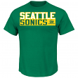 "Shawn Kemp Seattle Supersonics Majestic NBA ""Custom"" Throwback Player T-Shirt"