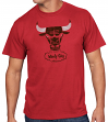 "Chicago Bulls Majestic NBA Throwback ""Windy City Post Up"" Men's T-Shirt"