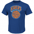 "New York Knicks Majestic NBA Throwback ""Post Up"" Men's T-Shirt"