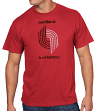 "Portland Trail Blazers Majestic NBA Throwback ""Post Up"" Men's T-Shirt"