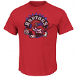 "Toronto Raptors Majestic NBA Throwback ""Post Up"" Men's T-Shirt"