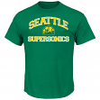"Seattle Supersonics Majestic NBA ""Heart & Soul"" Men's Green T-Shirt"