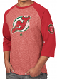 "New Jersey Devils Majestic NHL ""Double Minor"" Men's Vintage 3/4 Sleeve T-Shirt"