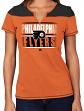 "Philadelphia Flyers Women's NHL Majestic ""Moment"" Notch Neck T-shirt"
