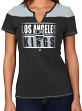 "Los Angeles Kings Women's NHL Majestic ""Moment"" Notch Neck T-shirt"