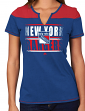 "New York Rangers Women's NHL Majestic ""Moment"" Notch Neck T-shirt"