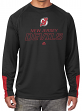 "New Jersey Devils Majestic NHL ""Cutting"" Cool Base Men's Long Sleeve Shirt"