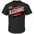 "Chicago Blackhawks Majestic NHL ""Earn Each Play"" Men's Fashion T-Shirt"