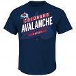 "Colorado Avalanche Majestic NHL ""Earn Each Play"" Men's Fashion T-Shirt"