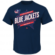 "Columbus Blue Jackets Majestic NHL ""Earn Each Play"" Men's Fashion T-Shirt"