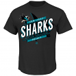 "San Jose Sharks Majestic NHL ""Earn Each Play"" Men's Fashion T-Shirt"