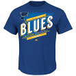 "St. Louis Blues Majestic NHL ""Earn Each Play"" Men's Fashion T-Shirt"