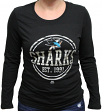 "San Jose Sharks Women's NHL Majestic ""Finished"" Long Sleeve Black T-shirt"