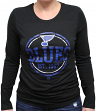 "St. Louis Blues Women's NHL Majestic ""Finished"" Long Sleeve Black T-shirt"