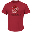 "Georgia Bulldogs Majestic ""Always Admired"" Weathered Red T-Shirt"