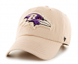 "Baltimore Ravens 47 Brand NFL ""Wright"" Clean Up Adjustable Hat - Khaki"