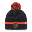 "Chicago Bears 47 Brand NFL ""Baraka"" Cuffed Knit Hat with Pom"