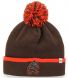 "Cleveland Browns 47 Brand NFL ""Baraka"" Cuffed Knit Hat with Pom"