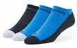 """San Diego Chargers NFL 47 Brand """"Gait"""" 3 Pack Colorblocked Men's No Show Socks"""