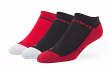 "Chicago Blackhawks NHL 47 Brand ""Gait"" 3 Pack Colorblocked Men's No Show Socks"