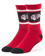 "Chicago Blackhawks NHL 47 Brand ""Duster"" Colorblocked Men's Crew Length Socks"