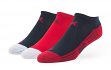 "Atlanta Braves MLB 47 Brand ""Float"" 3 Pack Colorblocked Men's No Show Socks"