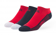 "St. Louis Cardinals MLB 47 Brand ""Float"" 3 Pack Colorblocked Men's No Show Socks"