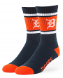 "Detroit Tigers MLB 47 Brand ""Duster"" Colorblocked Men's Crew Length Socks"
