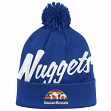 "Denver Nuggets Mitchell & Ness NBA ""Double Up"" Cuffed Premium Knit Hat"
