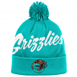 """Vancouver Grizzlies Mitchell & Ness NBA """"Double Up"""" Cuffed Premium Knit Hat"""