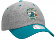 Charlotte Hornets Mitchell & Ness NBA Throwback Wool Slouch Adjustable Hat