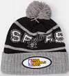 San Antonio Spurs Mitchell & Ness NBA 2003 Championship Patch Pom Knit Hat